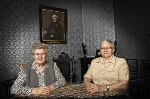 Sisters Quitina and Laboure took care of the daily tasks in the boarding school.